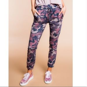 Free People Camp Scout Camo Joggers